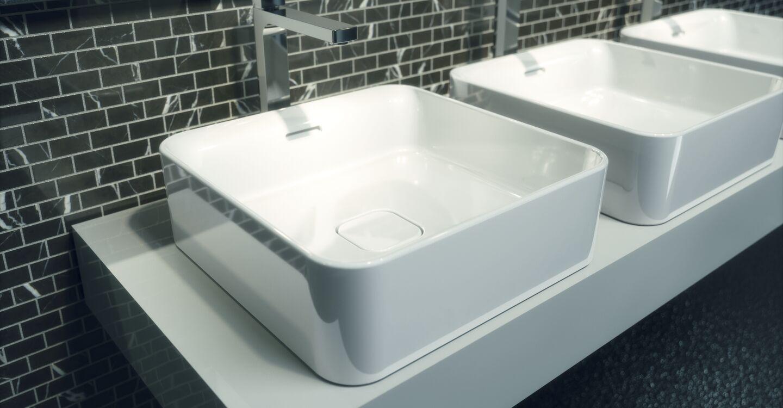 Piano Per Lavabo Da Appoggio t2963 strada ii lavabo quadrato 400x400 mm da appoggio su