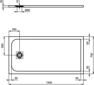 IS_UltraFlatS_K8234_PrListDrw_NN_shower-tray140x70